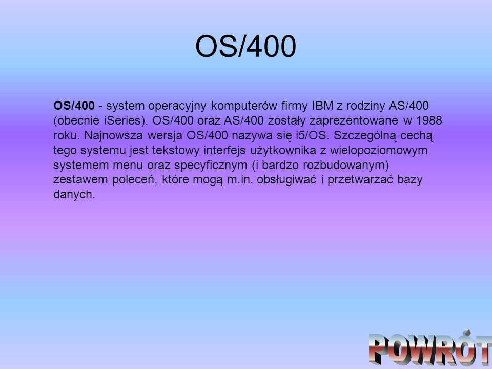 OS/400