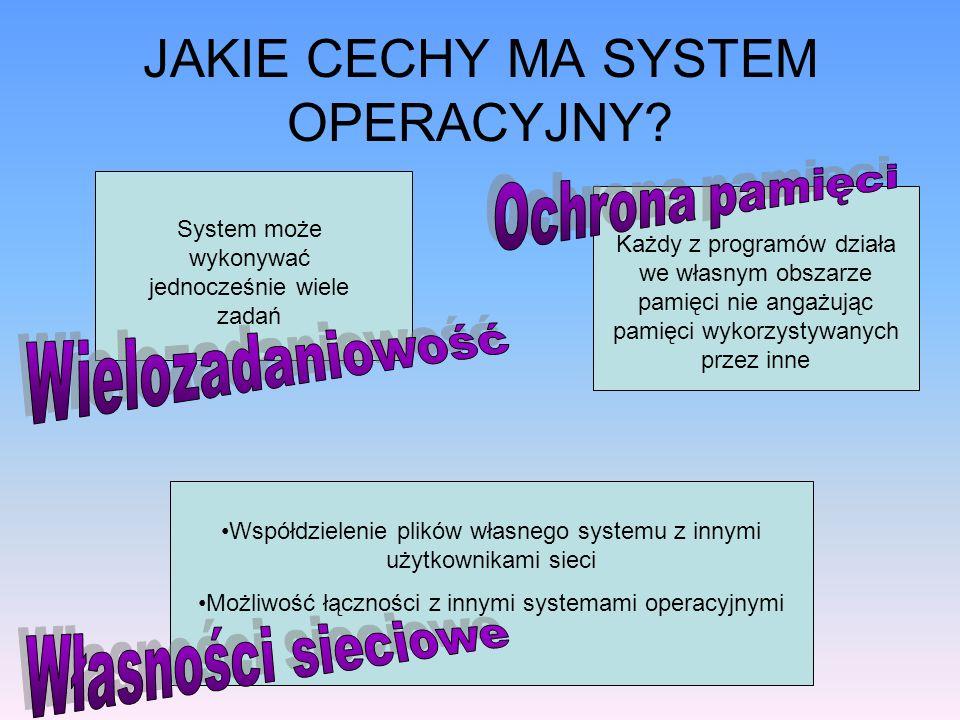 JAKIE CECHY MA SYSTEM OPERACYJNY