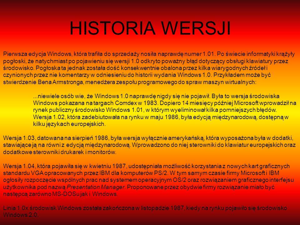 HISTORIA WERSJI