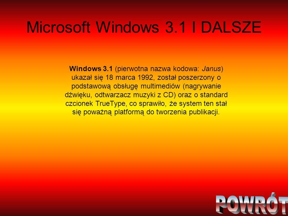 Microsoft Windows 3.1 I DALSZE