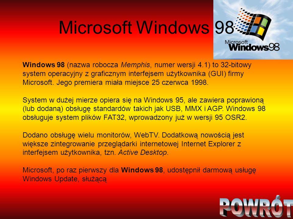 Microsoft Windows 98 POWRÓT