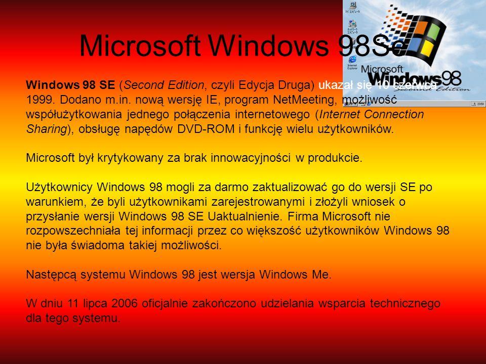 Microsoft Windows 98Se