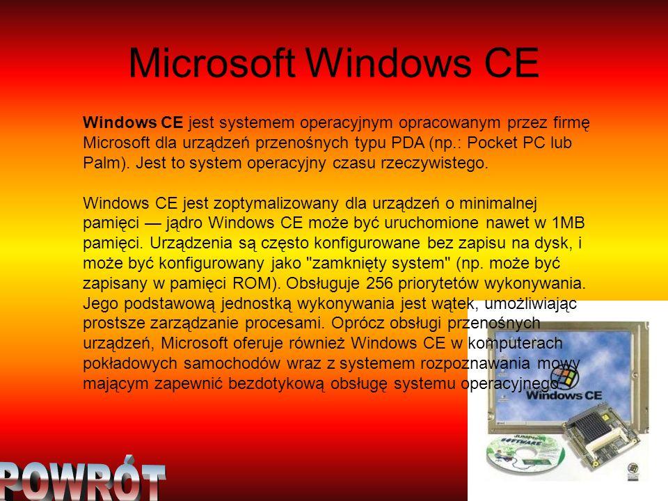Microsoft Windows CE POWRÓT