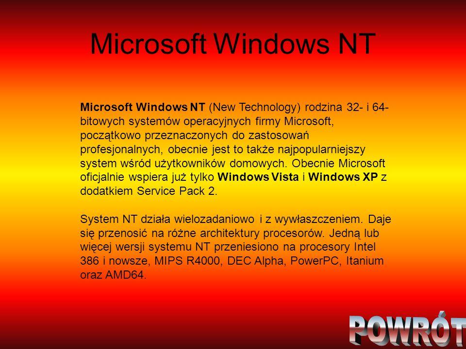 Microsoft Windows NT POWRÓT