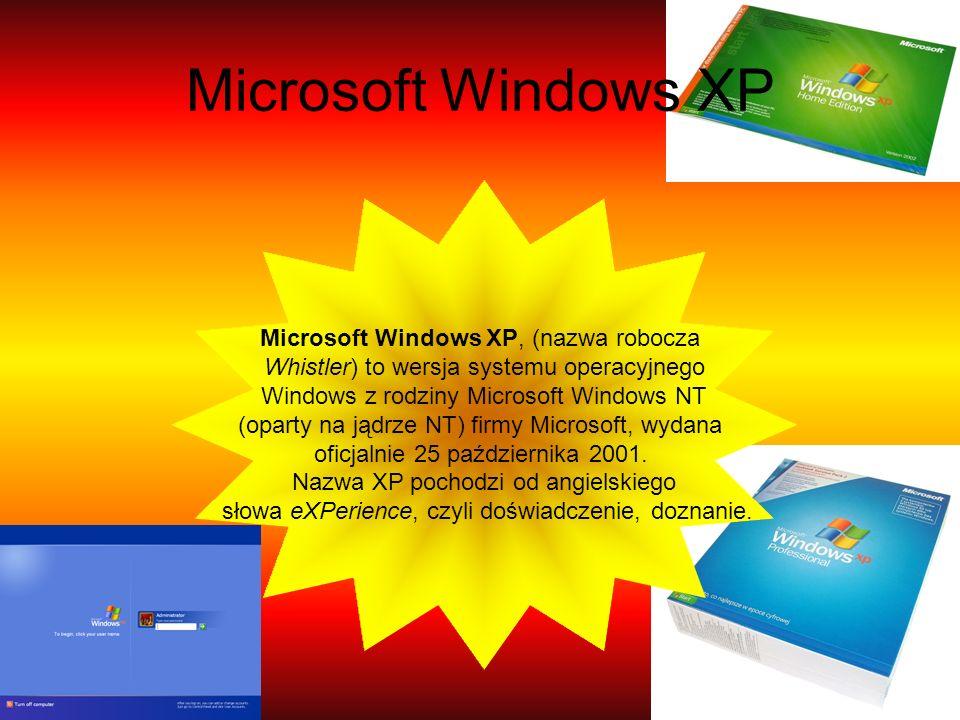Microsoft Windows XP Microsoft Windows XP, (nazwa robocza