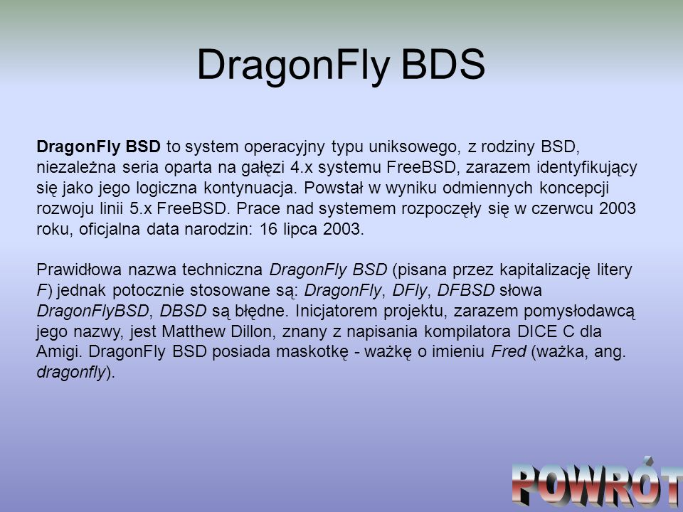 DragonFly BDS