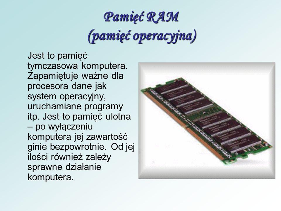 Pamięć RAM (pamięć operacyjna)