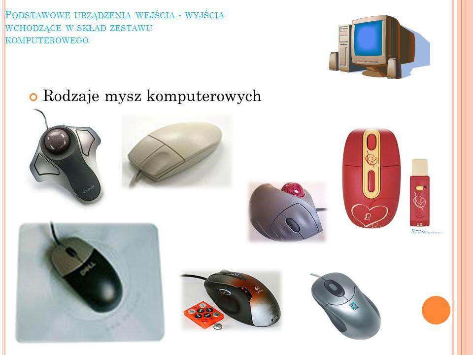 Rodzaje mysz komputerowych
