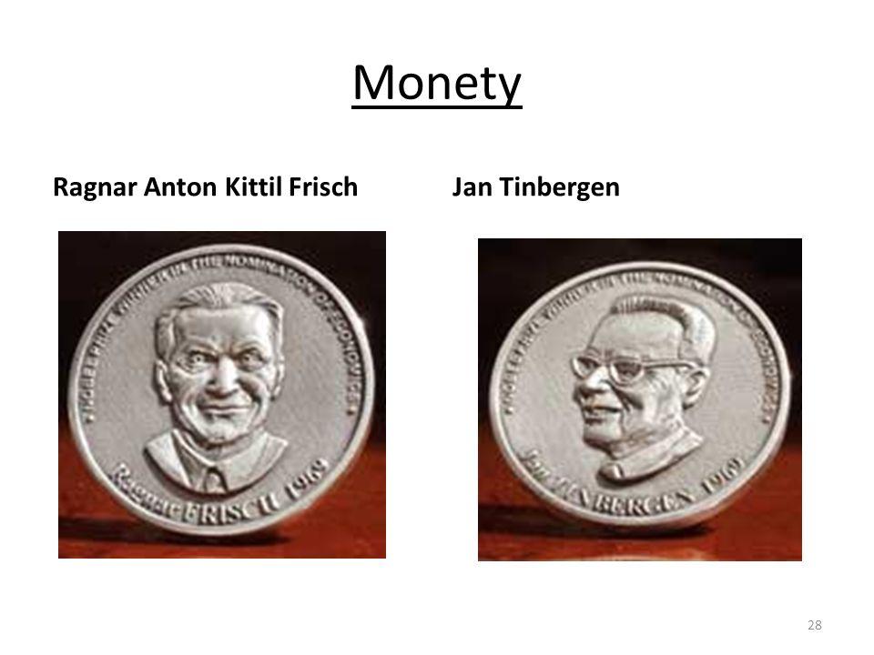 Monety Ragnar Anton Kittil Frisch Jan Tinbergen