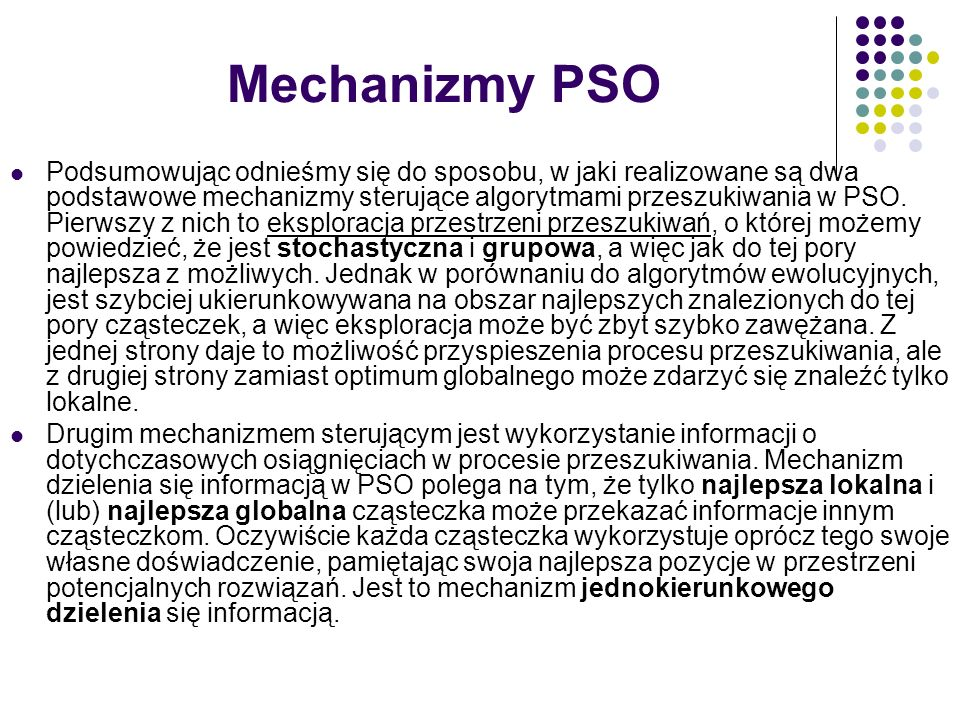 Mechanizmy PSO