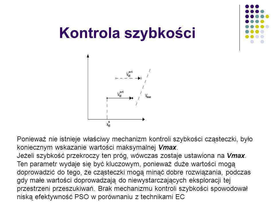 Kontrola szybkości Ponieważ nie istnieje właściwy mechanizm kontroli szybkości cząsteczki, było koniecznym wskazanie wartości maksymalnej Vmax.