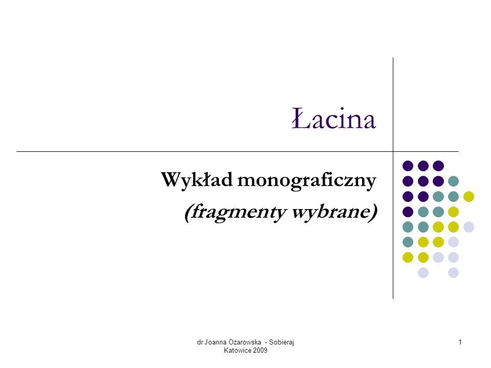 Wykład monograficzny (fragmenty wybrane)