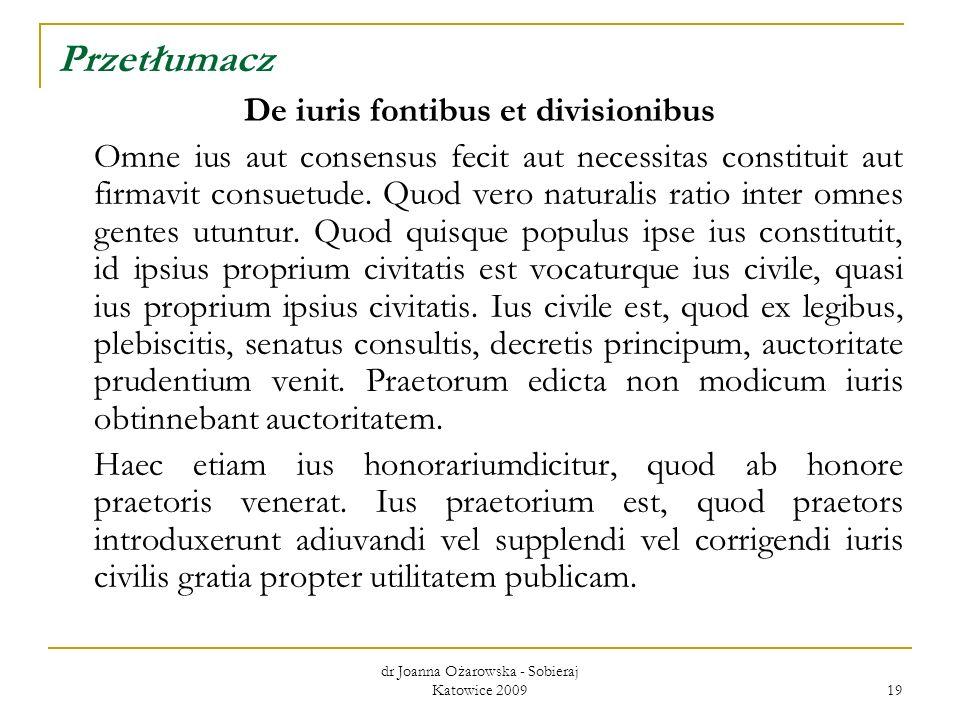 De iuris fontibus et divisionibus