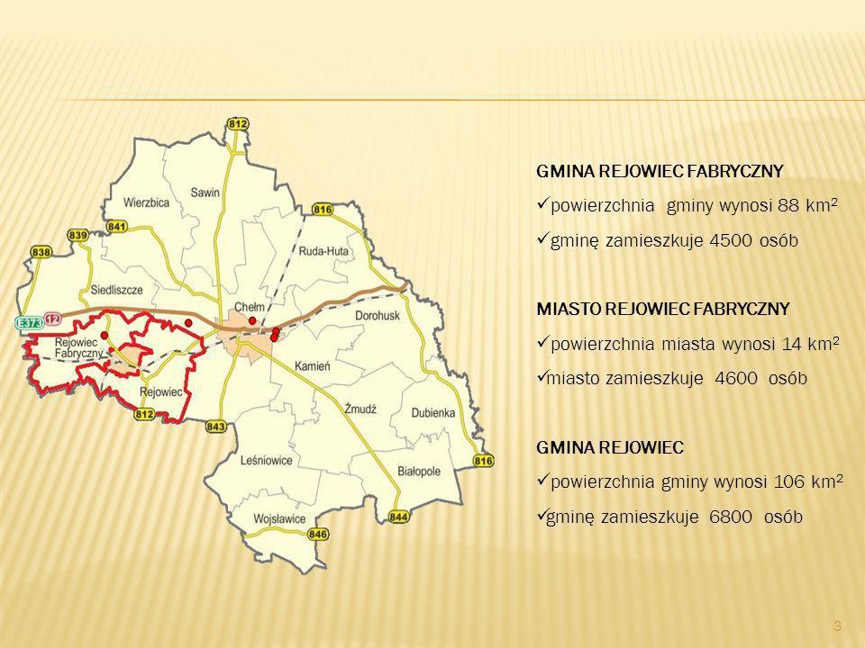 GMINA REJOWIEC FABRYCZNY powierzchnia gminy wynosi 88 km2