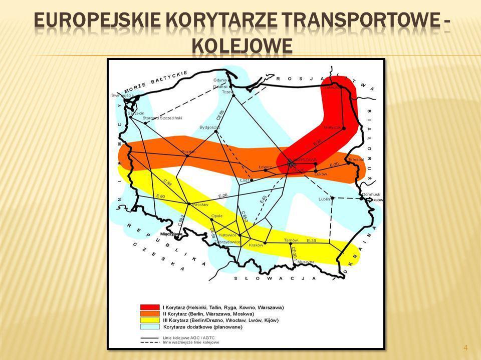 Europejskie korytarze transportowe - kolejowe