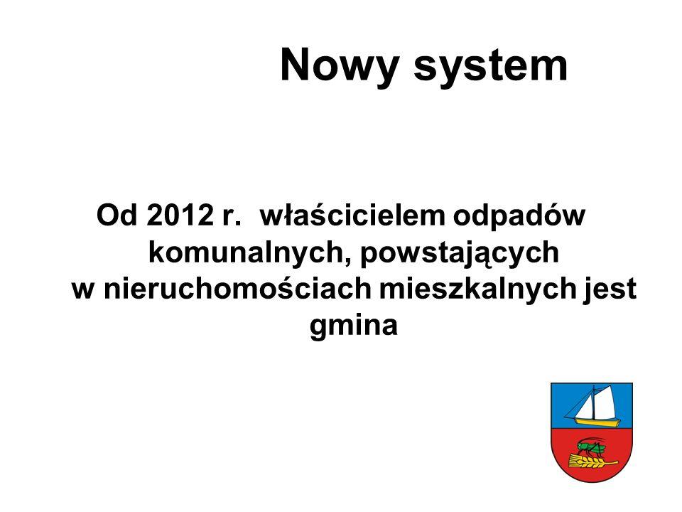 Nowy system Od 2012 r.