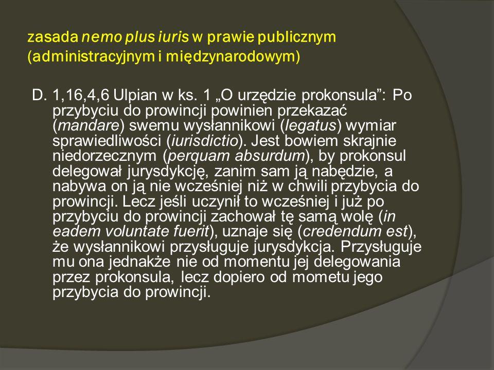 zasada nemo plus iuris w prawie publicznym (administracyjnym i międzynarodowym)