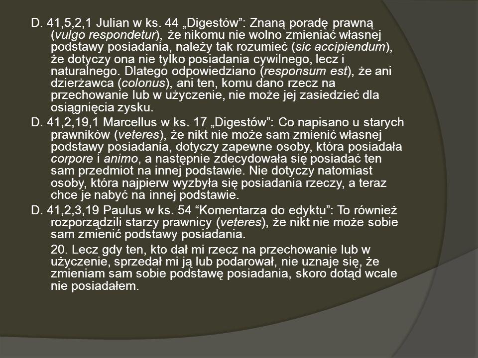 D. 41,5,2,1 Julian w ks.