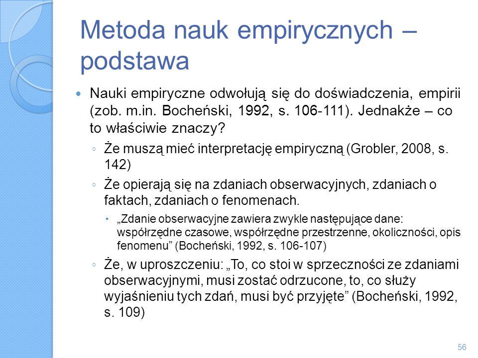 Metoda nauk empirycznych – podstawa