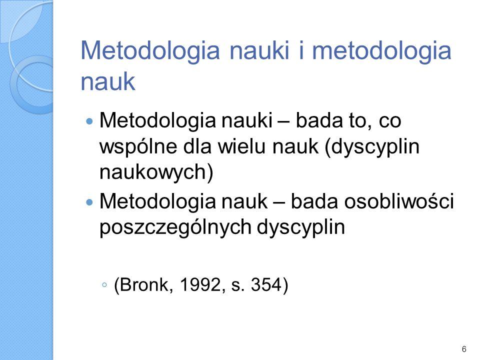 Metodologia nauki i metodologia nauk