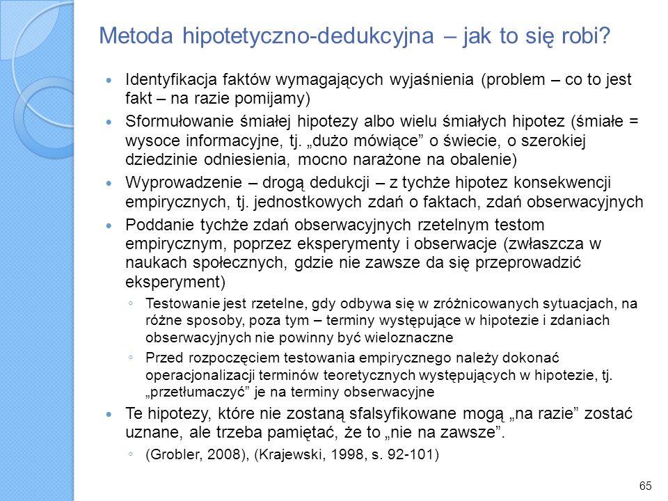 Metoda hipotetyczno-dedukcyjna – jak to się robi