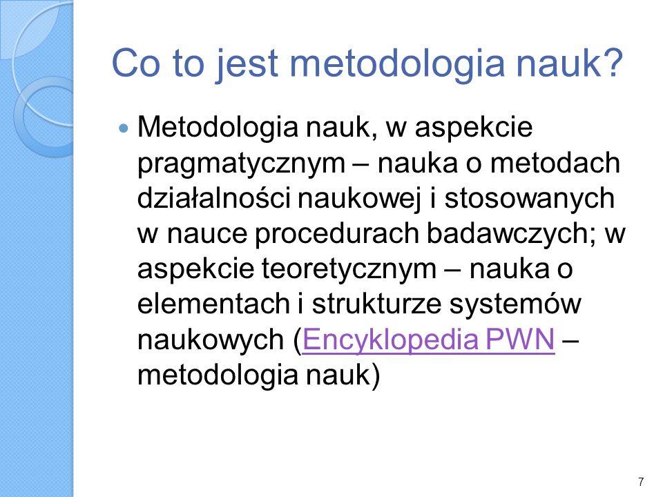 Co to jest metodologia nauk