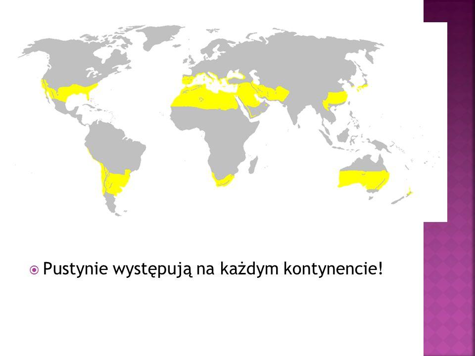 Pustynie występują na każdym kontynencie!