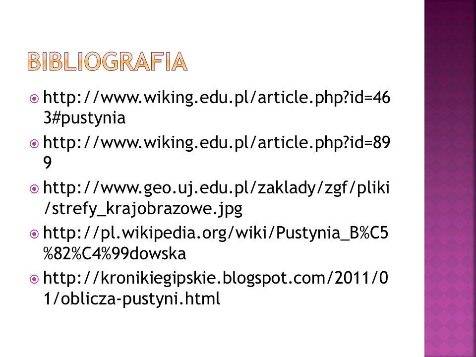 bibliografia http://www.wiking.edu.pl/article.php id=46 3#pustynia