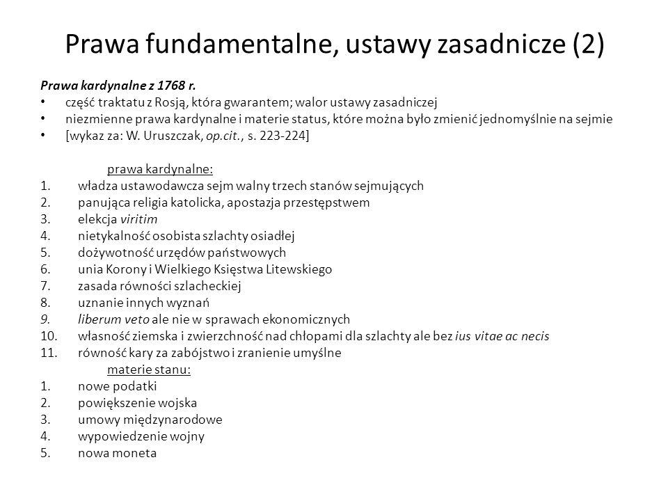 Prawa fundamentalne, ustawy zasadnicze (2)