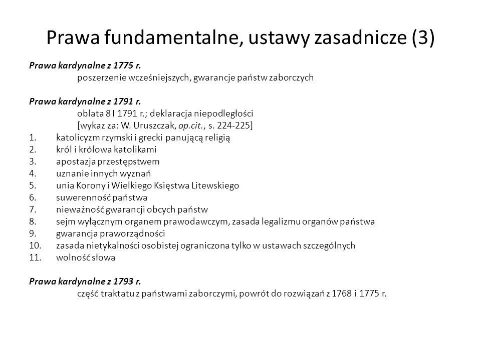 Prawa fundamentalne, ustawy zasadnicze (3)