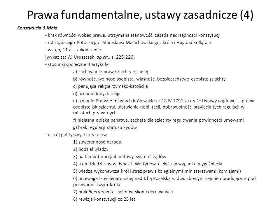 Prawa fundamentalne, ustawy zasadnicze (4)
