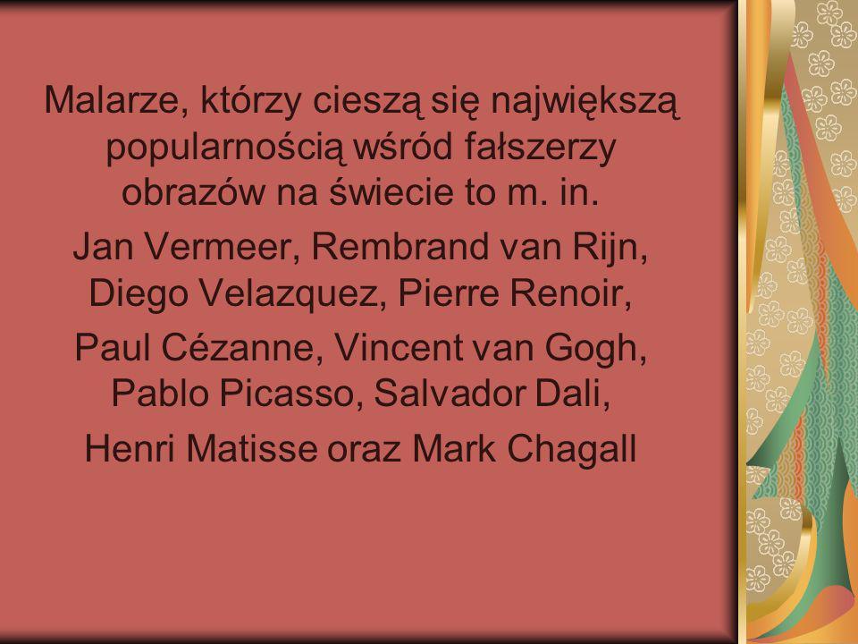 Jan Vermeer, Rembrand van Rijn, Diego Velazquez, Pierre Renoir,