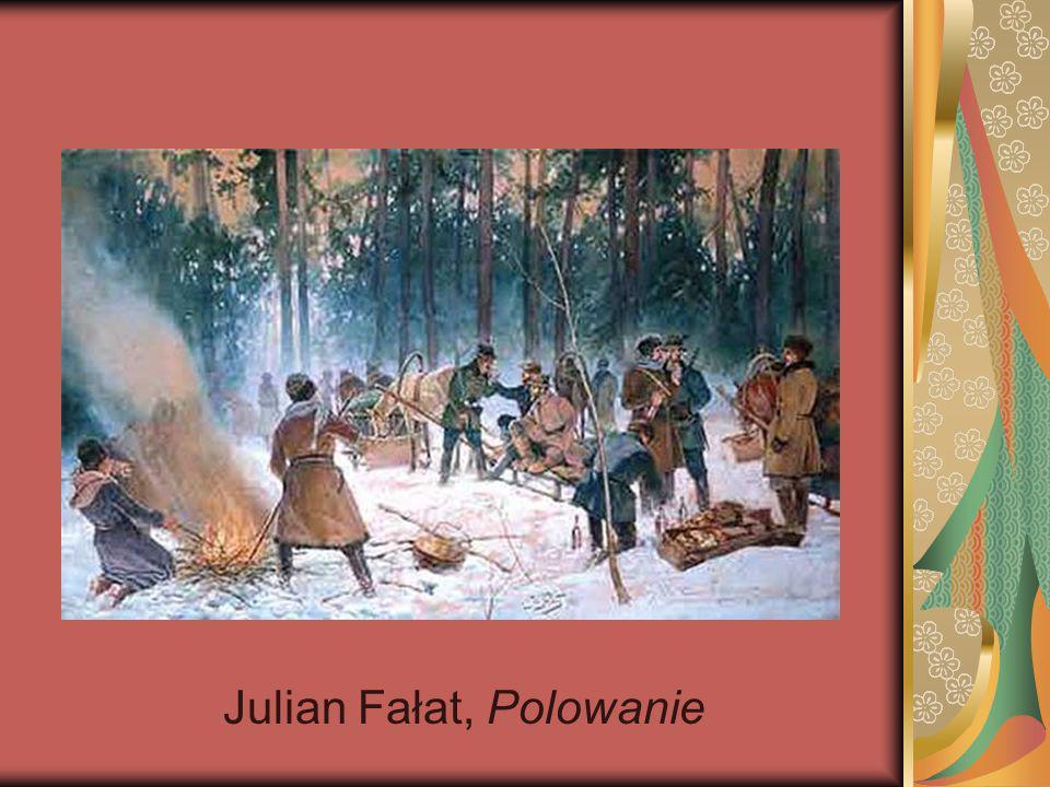 Julian Fałat, Polowanie