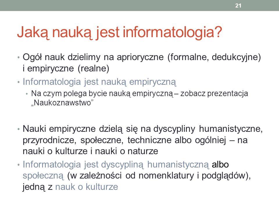 Jaką nauką jest informatologia