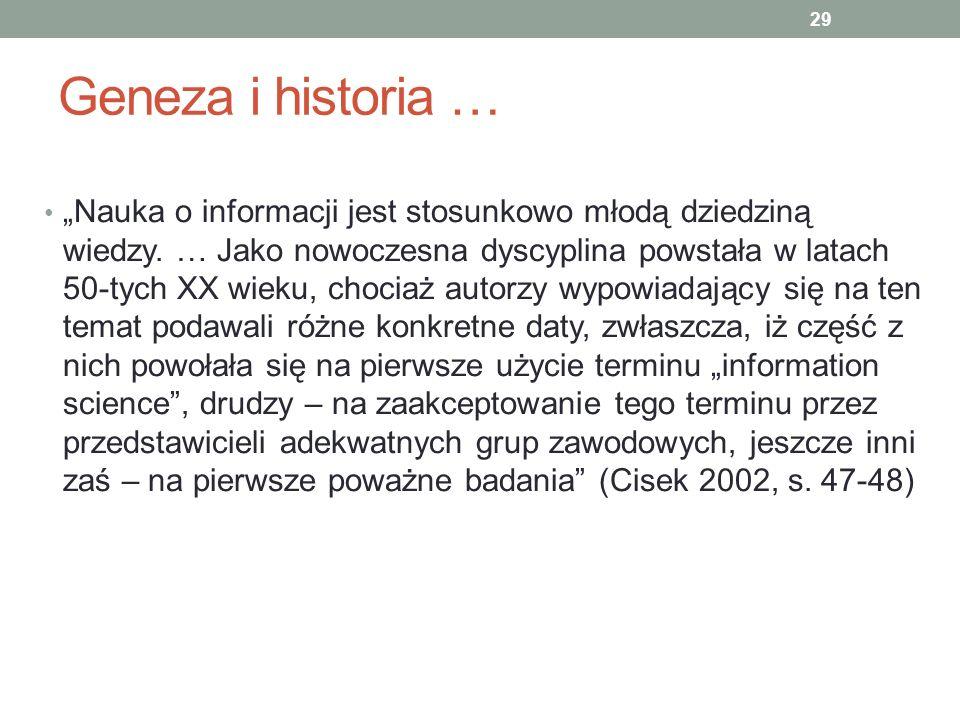 Geneza i historia …