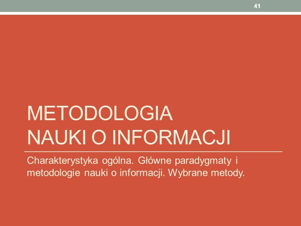 Metodologia nauki o informacji