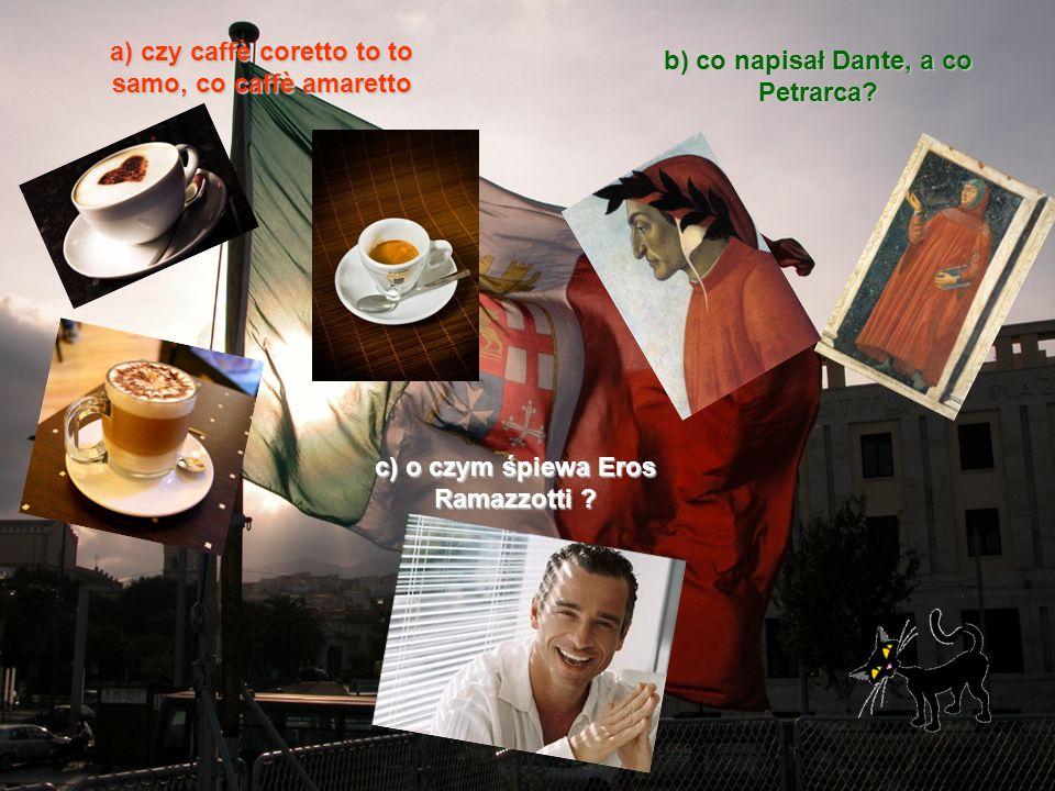 a) czy caffè coretto to to samo, co caffè amaretto