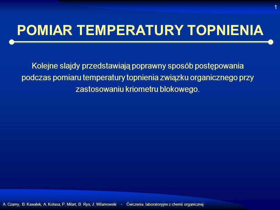 POMIAR TEMPERATURY TOPNIENIA