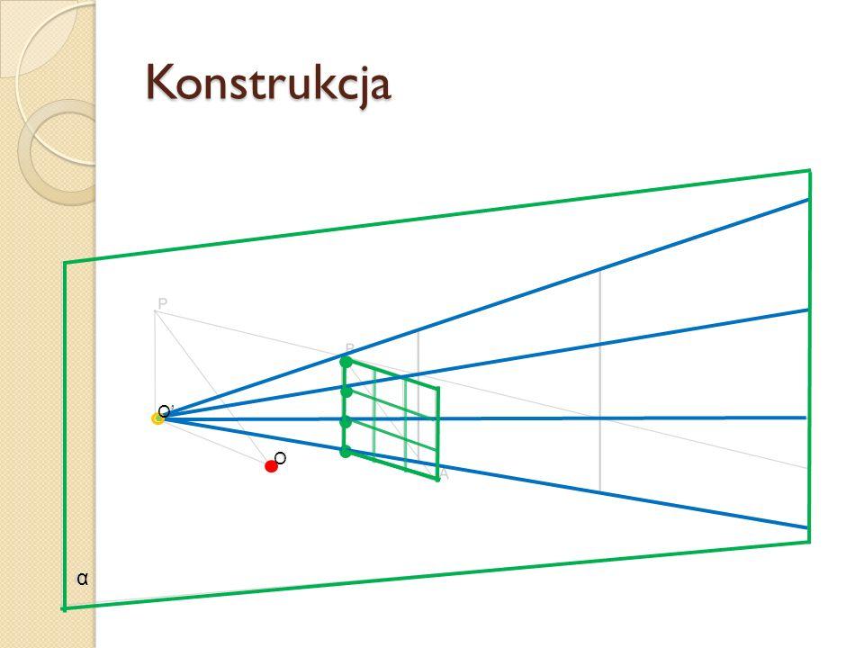 Konstrukcja O' O α
