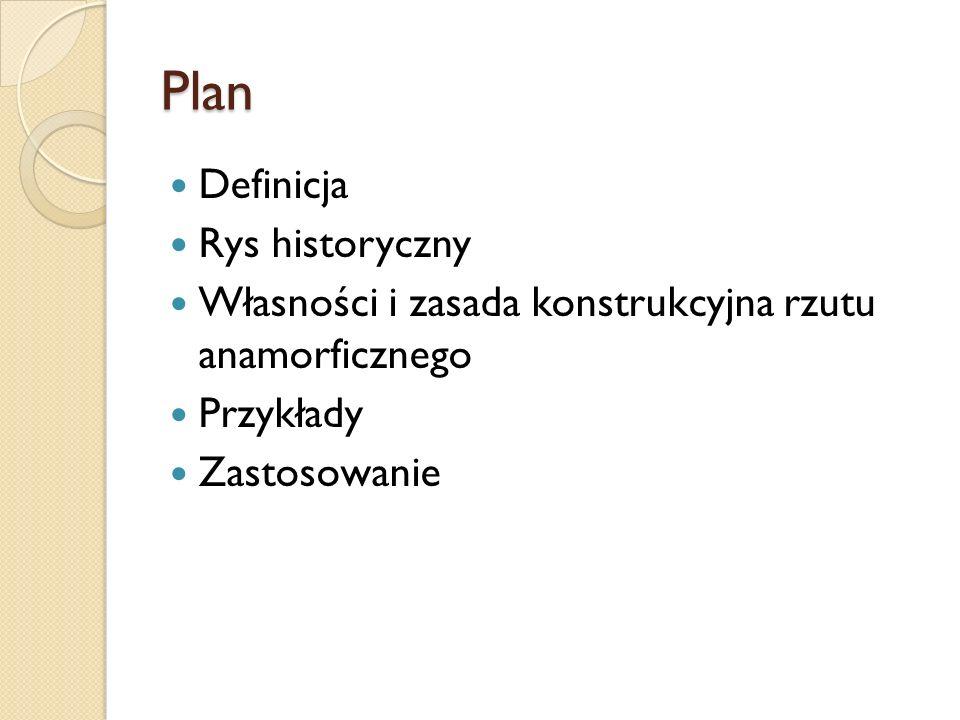 Plan Definicja Rys historyczny