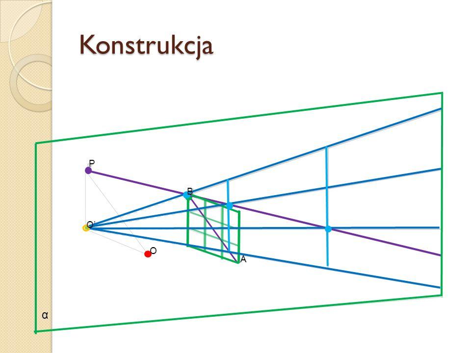 Konstrukcja α P B O' O A