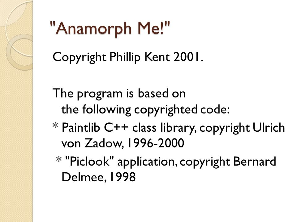 Anamorph Me!