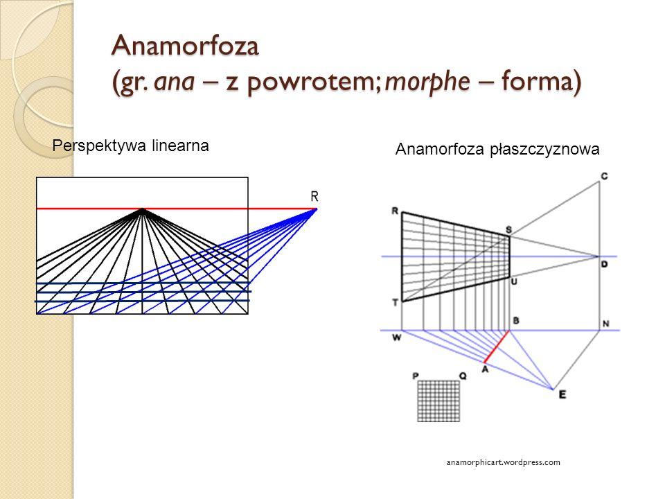 Anamorfoza (gr. ana – z powrotem; morphe – forma)