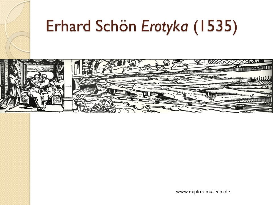 Erhard Schön Erotyka (1535)