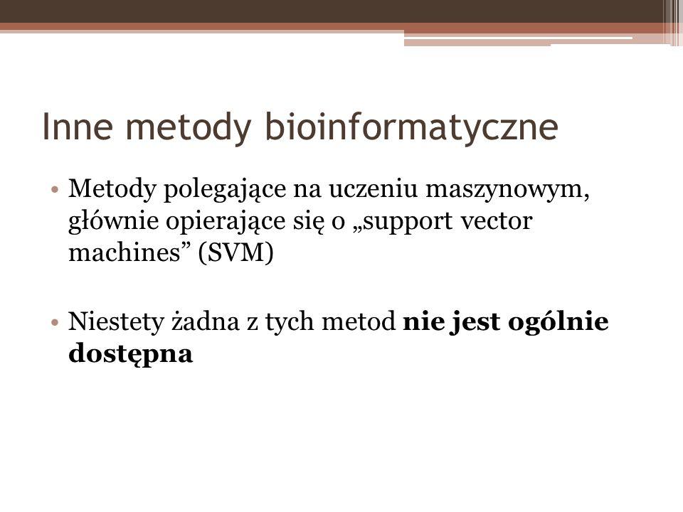 Inne metody bioinformatyczne