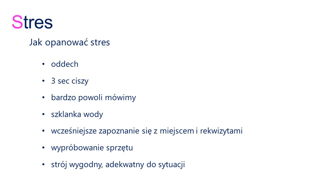 Stres Jak opanować stres oddech 3 sec ciszy bardzo powoli mówimy