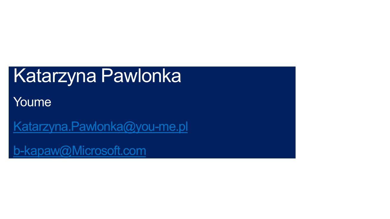 Katarzyna Pawlonka Youme Katarzyna.Pawlonka@you-me.pl
