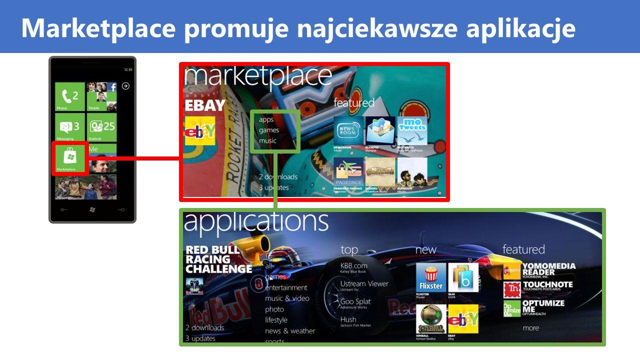 Marketplace promuje najciekawsze aplikacje
