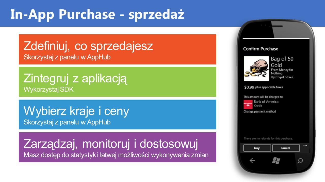 In-App Purchase - sprzedaż