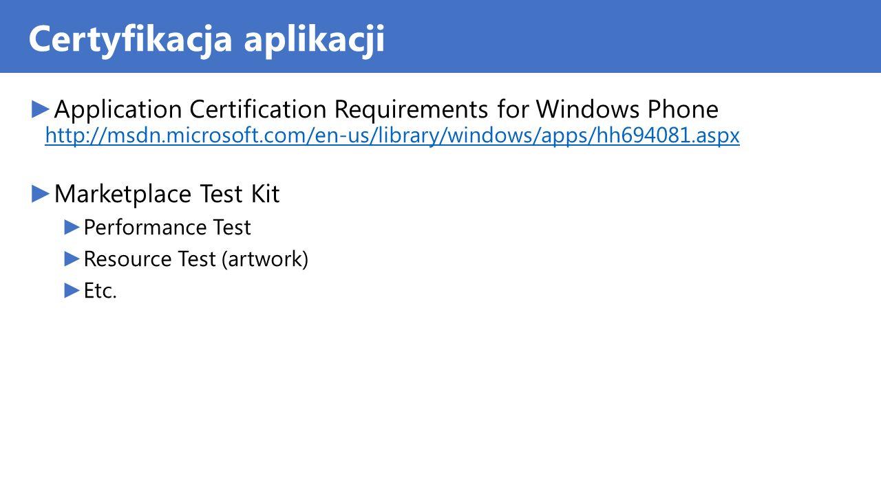 Certyfikacja aplikacji